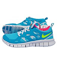 Nike Free Run 2 (GS) - Kinder-Freizeitschuh, Blue/Yellow/Pink