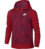 Nike Girls' Sportswear Hoodie Kapuzenjacke Mädchen, Red