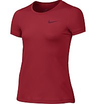 Nike Girls' Pro Cool Top T-Shirt fitness bambina, Red