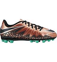 Nike Jr. Hypervenom Phelon II AG - Kinderfußballschuhe, Brown/Black/Turquoise