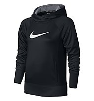 Nike KO 3.0 Oth Hoodie felpa con cappuccio ragazza, Black/Black/Wolf Grey/White