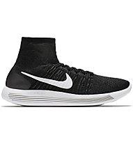 Nike Lunarepic Flyknit Scarpa Running, Black/White