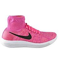 Nike Lunarepic Flyknit Laufschuh Damen, Pink