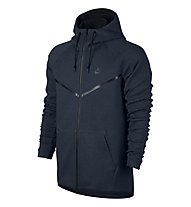 Nike Men Sportswear Tech Fleece Windrunner Hoodie Giacca con cappuccio, Obsidiane