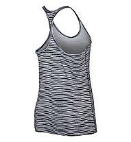 Nike Get Fit Veneer Tank - top donna, Black/White