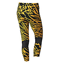 Nike Palm Epic Lux Crop pantaloni running donna, Yellow/Black