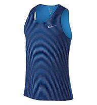 Nike Racing Print Singlet canotta running, Blue