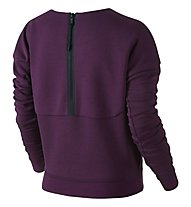 Nike Tech Fleece Crew Pullover donna, Mulberry/Black