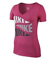 Nike Tee V Varsity Pennant T-Shirt Damen, Pink