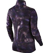 Nike Women Pro Warm Top Maglia a maniche lunghe fitness donna, Violett