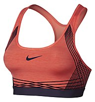 Nike Women Pro Hyper Classic Padded Sports Bra Reggiseno Sportivo, Orange/Lila