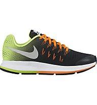Nike Zoom Pegasus 33 Youth - scarpa running ragazzi, Black/Orange