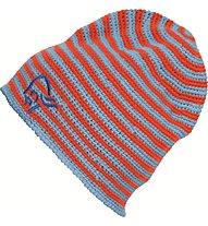 Norrona /29 crochet striped Beanie, Magma