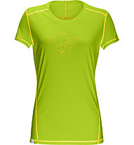 Norrona /29 tech T-Shirt trekking donna, Birch Green/Mellow Yellow