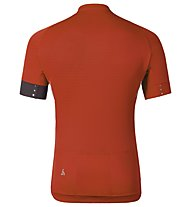 Odlo Jersey bici ISOLA Stand-up collar s/s 1/2 zip, Cherry Tomato