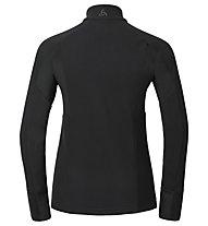 Odlo Komi Midlayer full zip W's Giacca in pile sci di fondo donna, Black