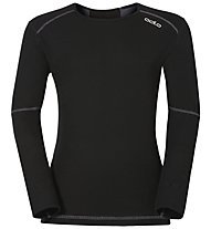 Odlo Longsleeve Crew Neck X-Warm Funktionsshirt Kinder, Black