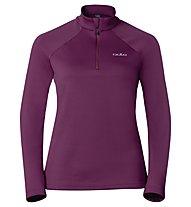 Odlo Snowbird Midlayer 1/2 zip W's, Magenta Purple