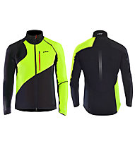 One Way Giacca sci da fondo Draco Softshell Jacket, Black/Green