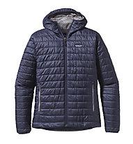 Patagonia Nano Puff Hoody giacca PrimaLoft, Classic Navy