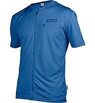 Poc Trail Light Zip Tee - Bikeshirt, Light Blue