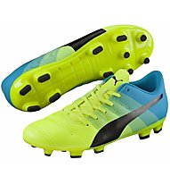 Puma EvoPower 4.3 FG Jr. - Kinder-Fußballschuhe, Light Yellow/Black