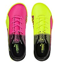 Puma evoSpeed 5.5 Tricks Turf - scarpe da calcio, Pink/Yellow