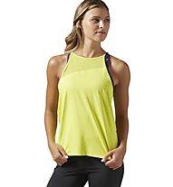 Reebok Cardio Slim Tank Damen Fitness Shirt, Yellow