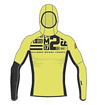 Reebok One Series DWR Speedweick Hoodie Felpa con cappuccio fitness, Yellow