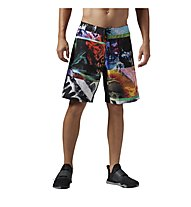 Reebok One Series Power Nasty Happy Accident Boardshorts pantalone corto fitness, Multicolour