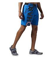 Reebok One Series Power Nasty Lightweight Pantaloni corti Fitness, Blue Sport