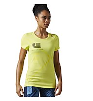 Reebok CrossFit Performance Blend Graphic T-Shirt fitness donna, Yellow