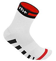 rh+ Ergo Sock (9 cm) Fahrradsocken, White/Red/Black