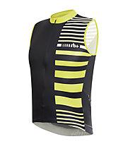 rh+ Legend Sleeveless Jersey ärmelloses Radtrikot, Black-Fluo Yellow
