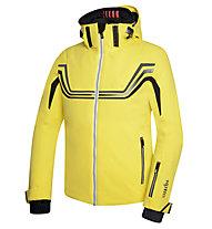 rh+ PW Ergo Jacket Herren Skijacke mit Kapuze, Light Yellow/Black