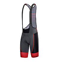 rh+ Pantaloni da bici SpeedCell Bibshorts, Anthracite/Black/Red