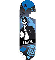"Roces Skull Mini 24"" Kinder-Skateboard, Blue"