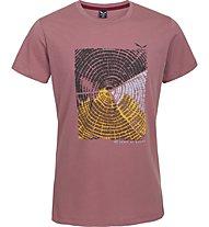 Salewa 80 Years T-shirt tempo libero, Antique Rose
