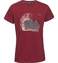 Salewa Abram T-Shirt tempo libero, Velvet Red