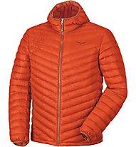 Salewa Fanes Dwn M JKT Giacca con cappuccio trekking, Orange