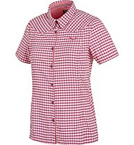 Salewa Fanes Hike DRY - camicia trekking donna, Red Onion/Hot Coral/White
