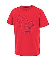 Salewa Frea Stambecco T-Shirt arrampicata bambino, Papavero