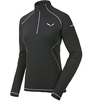 Salewa Ortles Cubic PL Shirt Langarm Damen, Black