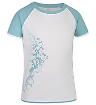 Salewa Sirene DRY G S/S Tee T-Shirt trekking bambina, White