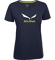 Salewa Solidlogo T-Shirt arrampicata donna, Night Black