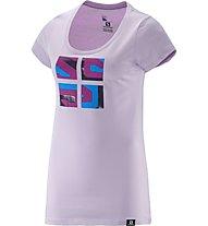 Salomon Warhol Cotton T-Shirt trekking Donna, Pink