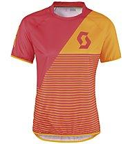 Scott Progressive Pro Donna-MTB-Shirt, Teaberry Pink/Zinnia Orange