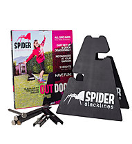Spider Slacklines Outdoor Kit - Slackline Set, White/Black