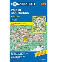 Tabacco N° 022 Pale di San Martino (1:25.000), 1:25.000