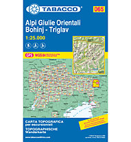 Tabacco Tabacco Karte 064: Alpi Giulie Orientali Bohinj - Triglav, 1:25.000